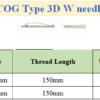 COG Type 3D W needle